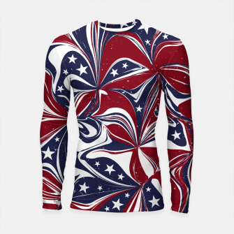 Thumbnail image of Abstract Flowers With Stars Vector Painting Longsleeve rashguard , Live Heroes