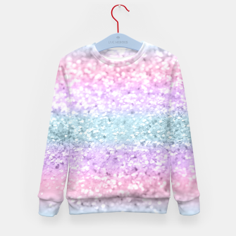 Thumbnail image of Unicorn Girls Glitter #11 #shiny #pastel #decor #art Kindersweatshirt, Live Heroes