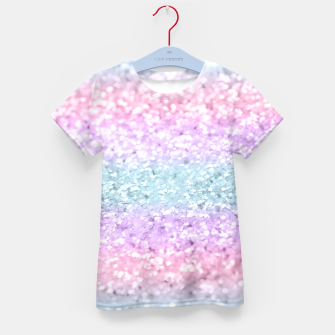 Unicorn Girls Glitter #11 #shiny #pastel #decor #art T-Shirt für kinder miniature