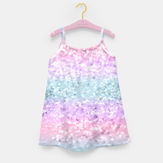 Miniaturka Unicorn Girls Glitter #11 #shiny #pastel #decor #art Mädchenkleid, Live Heroes