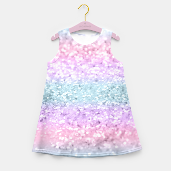 Thumbnail image of Unicorn Girls Glitter #11 #shiny #pastel #decor #art Mädchen-Sommerkleid, Live Heroes