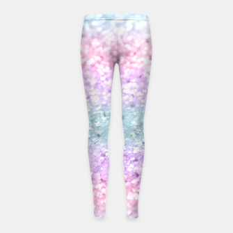 Thumbnail image of Unicorn Girls Glitter #11 #shiny #pastel #decor #art Kinder-Leggins, Live Heroes
