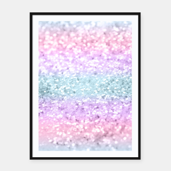 Unicorn Girls Glitter #11 #shiny #pastel #decor #art Plakat mit rahmen miniature