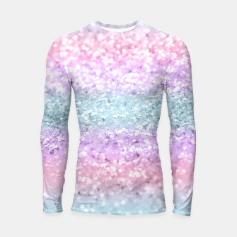 Unicorn Girls Glitter #11 #shiny #pastel #decor #art Longsleeve rashguard obraz miniatury