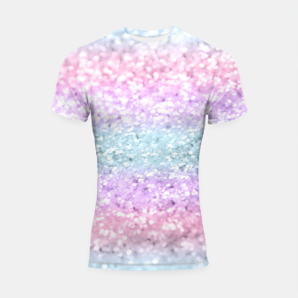 Unicorn Girls Glitter #11 #shiny #pastel #decor #art Shortsleeve rashguard obraz miniatury