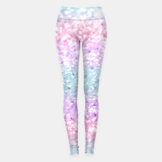 Unicorn Girls Glitter #11 #shiny #pastel #decor #art Leggings obraz miniatury