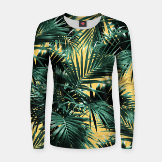 Thumbnail image of Tropical Palm Leaf Jungle #2 #tropical #decor #art  Frauen sweatshirt, Live Heroes