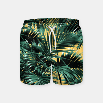 Miniaturka Tropical Palm Leaf Jungle #2 #tropical #decor #art  Badeshorts, Live Heroes