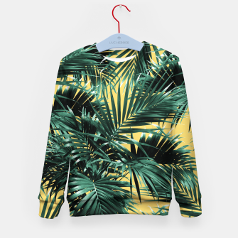 Thumbnail image of Tropical Palm Leaf Jungle #2 #tropical #decor #art  Kindersweatshirt, Live Heroes