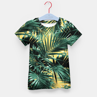 Thumbnail image of Tropical Palm Leaf Jungle #2 #tropical #decor #art  T-Shirt für kinder, Live Heroes