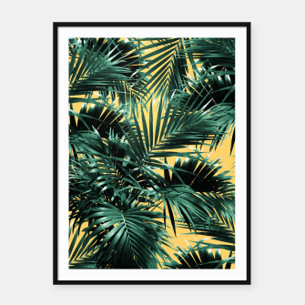 Thumbnail image of Tropical Palm Leaf Jungle #2 #tropical #decor #art  Plakat mit rahmen, Live Heroes