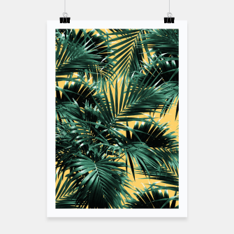 Thumbnail image of Tropical Palm Leaf Jungle #2 #tropical #decor #art  Plakat, Live Heroes