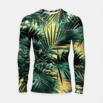 Thumbnail image of Tropical Palm Leaf Jungle #2 #tropical #decor #art  Longsleeve rashguard, Live Heroes