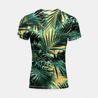 Thumbnail image of Tropical Palm Leaf Jungle #2 #tropical #decor #art  Shortsleeve rashguard, Live Heroes