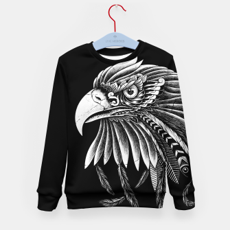Thumbnail image of Eagle Ornate Kid's sweater, Live Heroes