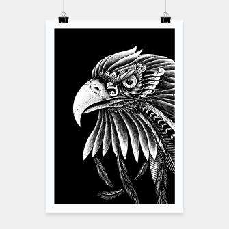 Thumbnail image of Eagle Ornate Poster, Live Heroes