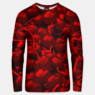 cherries pattern reacdr Unisex sweater thumbnail image