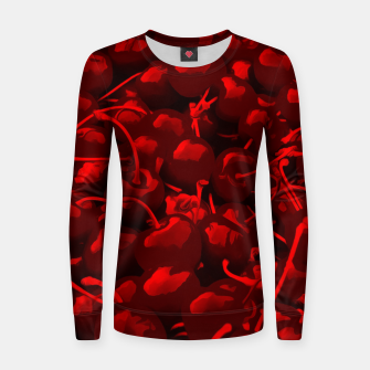 cherries pattern reacdr Women sweater thumbnail image