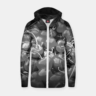cherries pattern reaclibw Zip up hoodie miniature