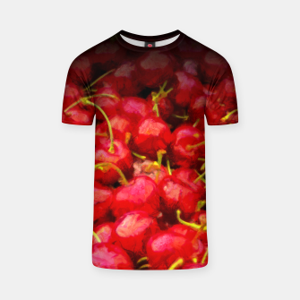 Thumbnail image of cherries pattern hvhdstd T-shirt, Live Heroes