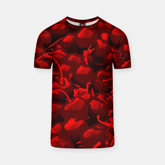 Thumbnail image of cherries pattern reacdr T-shirt, Live Heroes