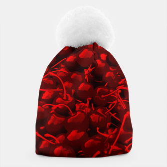 cherries pattern reacdr Beanie thumbnail image