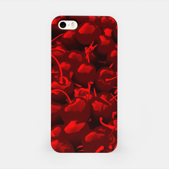 cherries pattern reacdr iPhone Case miniature