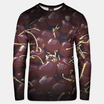 cherries pattern reaclifn Unisex sweater thumbnail image