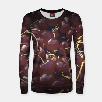 cherries pattern reaclifn Women sweater thumbnail image