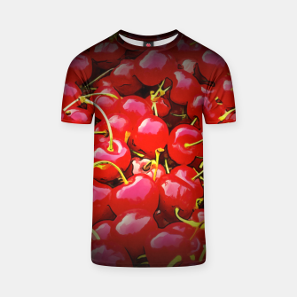 Thumbnail image of cherries pattern reaclistd T-shirt, Live Heroes