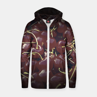 cherries pattern reaclifn Zip up hoodie thumbnail image