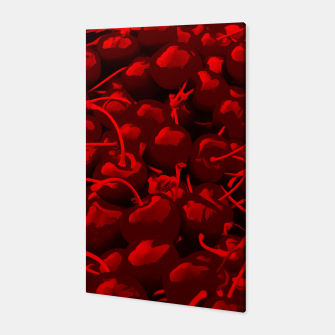 cherries pattern reacdr Canvas miniature