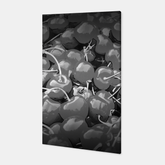 cherries pattern reaclibw Canvas miniature