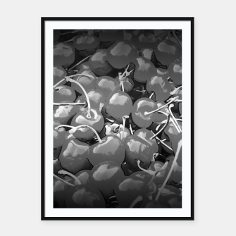 Thumbnail image of cherries pattern reaclibw Framed poster, Live Heroes