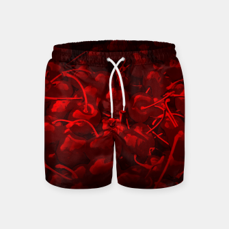 Thumbnail image of cherries pattern reaclidr Swim Shorts, Live Heroes