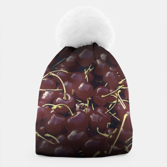 Thumbnail image of cherries pattern reaclifn Beanie, Live Heroes