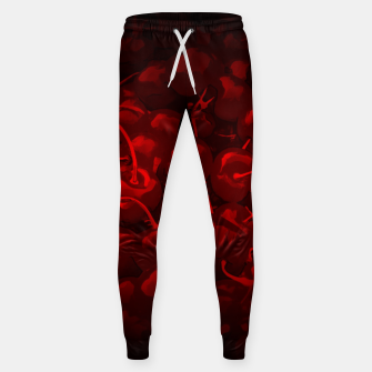 Miniature de image de cherries pattern reaclidr Sweatpants, Live Heroes