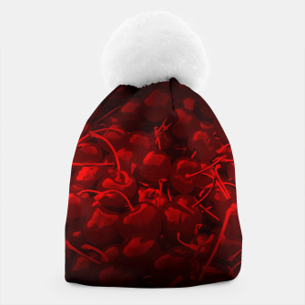 Thumbnail image of cherries pattern reaclidr Beanie, Live Heroes