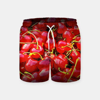 Thumbnail image of cherries pattern reaclistd Swim Shorts, Live Heroes