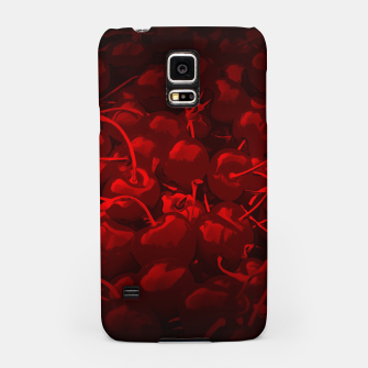 Thumbnail image of cherries pattern reaclidr Samsung Case, Live Heroes
