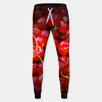 Miniature de image de cherries pattern reaclistd Sweatpants, Live Heroes