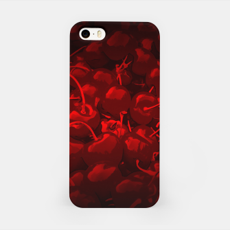 Thumbnail image of cherries pattern reaclidr iPhone Case, Live Heroes