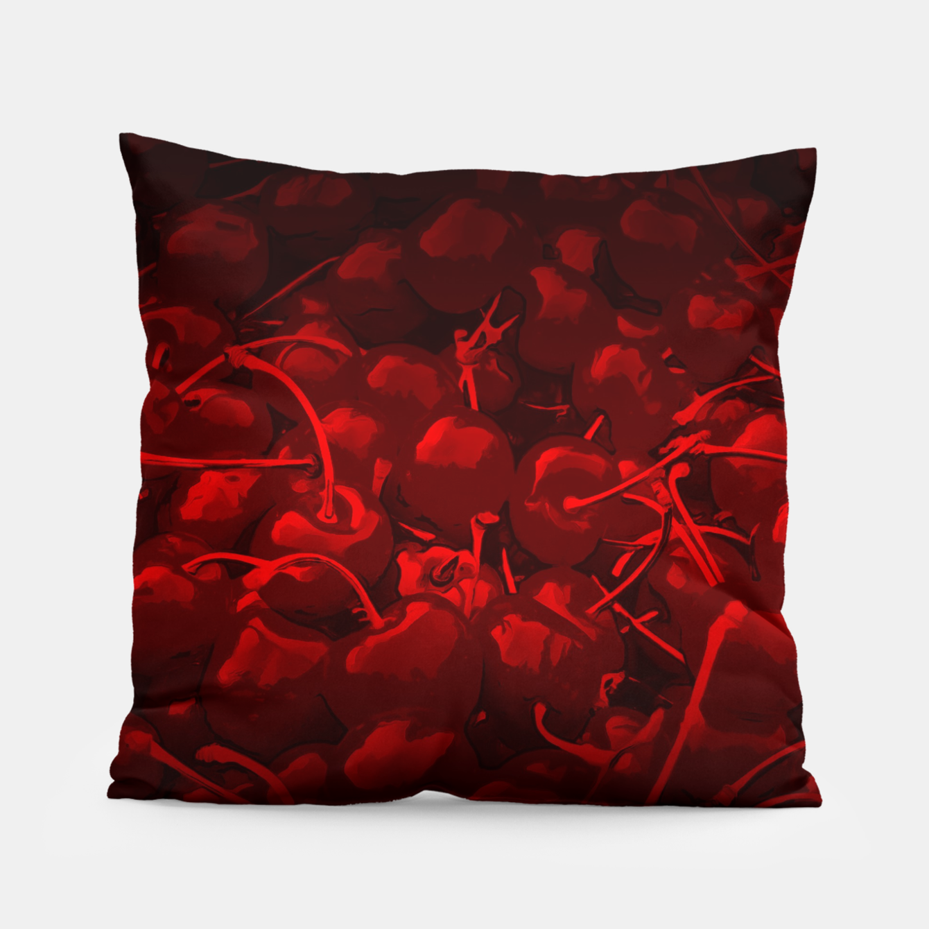 Image of cherries pattern reaclidr Pillow - Live Heroes