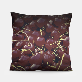 Thumbnail image of cherries pattern reaclifn Pillow, Live Heroes