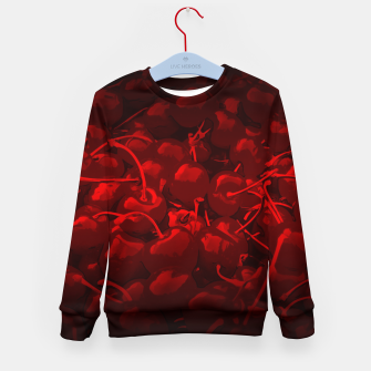 Thumbnail image of cherries pattern reaclidr Kid's sweater, Live Heroes