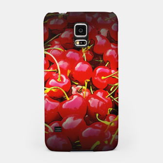 Thumbnail image of cherries pattern reaclistd Samsung Case, Live Heroes