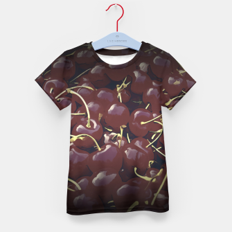 Thumbnail image of cherries pattern reaclifn Kid's t-shirt, Live Heroes