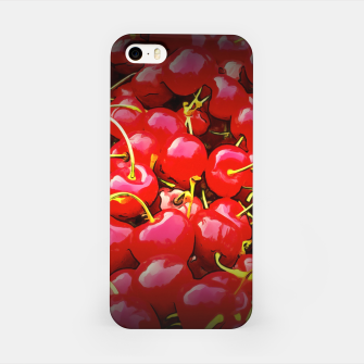 Thumbnail image of cherries pattern reaclistd iPhone Case, Live Heroes