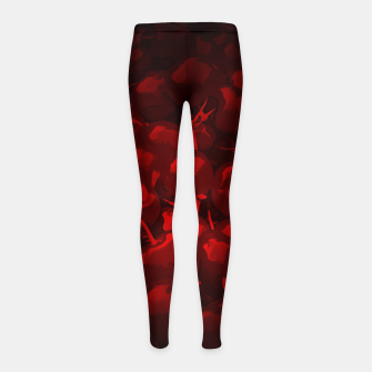 Thumbnail image of cherries pattern reaclidr Girl's leggings, Live Heroes