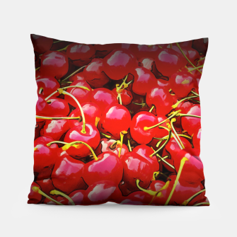 Thumbnail image of cherries pattern reaclistd Pillow, Live Heroes